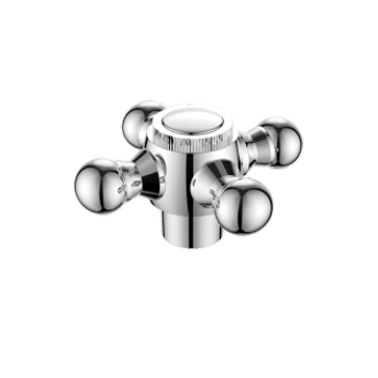 ABS CHROME FAUCET PLUM BLOSSOM CROSS